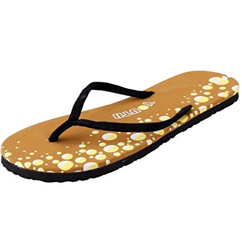 Minetom Tongs Femme Compensées Plage Eté Chaussure Flip Flops Talon Tongs Bout Ouvert Sandales Chaussons EUROPE Taille