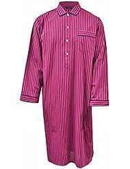 Chemise de nuit 100% coton à rayures - rouge / bleu / blanc - homme