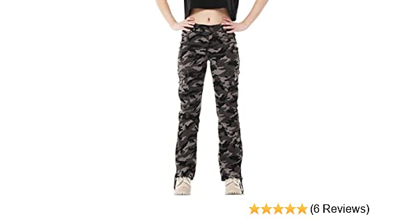 15fa66dab0e5c Glamour Outfitters Army Military Style Camouflage Wide Leg Cargo Pants  Combat Trousers - Green & Grey (18): Amazon.co.uk: Clothing