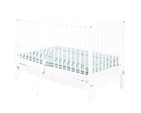Pinolino - 111427 - Kinderbett Lenny (120 x 60 cm) - mit 2 Schlupfsprossen aus vollmassiver Kiefer, weiß lackiert