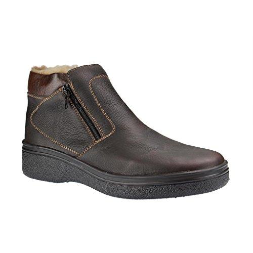 RIEKER - 38652 - Herren Kurzschaft Stiefel - Braun Schuhe in G Weite , Farben:Braun;Größe:44;Weite:G