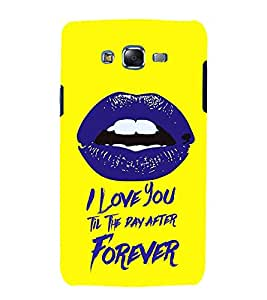 Fiobs Designer Back Case Cover for Samsung Galaxy J7 J700F (2015) :: Samsung Galaxy J7 Duos (Old Model) :: Samsung Galaxy J7 J700M J700H (Love I You Till Day After Forever Lips Romantic Mobile Cover)