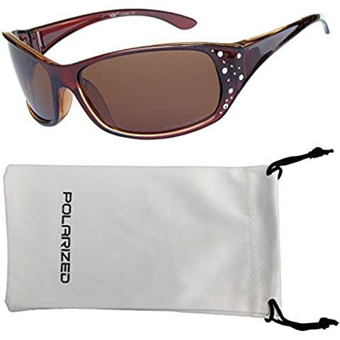 VOX Femenina Gafas de Sol Polarizadas Sport Diseñador Moda Diamantes de Imitación