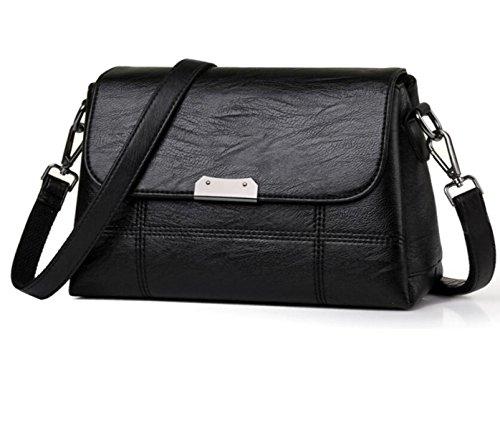 Borsa A Tracolla In Pelle Da Donna Elegante Borsa A Tracolla Moda Messenger Bag Borsa Delle Signore Retro Borsa Black
