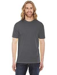 Unisex Poly-Cotton Short-Sleeve Crewneck ASPHALT 2XL