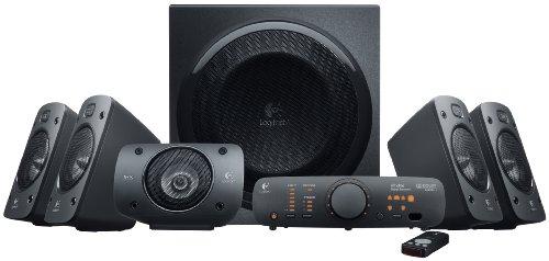 Logitech Z906 - Altavoces estéreo, sonido envolvente Dolby 5.1 3D, THX, 1.000 W, adecuados para TV y sala de estar