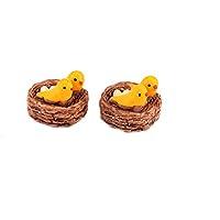Luwu-Store Nido en miniatura compatible con pájaros Navidad Diy resina hada jardín manualidades decoración