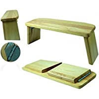 budawi® - Yoga Meditationsbank klappbar - Eschenholz, ergonomisch geformt - Meditationshocker