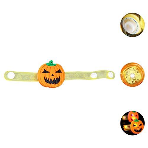 Halloween Armband Requisiten Kürbis Geister glühenden Armband LED-Flash-Armband glühenden (Geist Kostüme Gespenstische Kind)