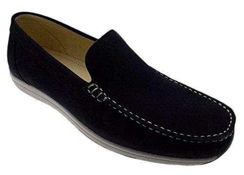 Mocassino nabuk blu classico art MURRAY scarpa uomo, Blu, 39