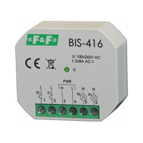 Bistabile Relais mit 2 unabhängig steuerbare schaltkreise F&F BIS-416 8275 -