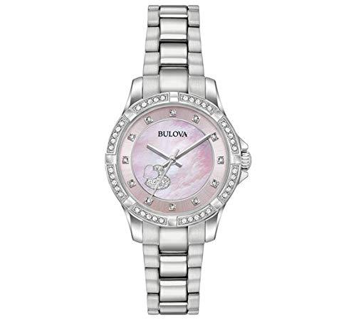 Bulova da donna rosa madreperla cuore di cristallo orologio