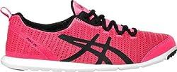 Asics Womens Diva Pink, Black and Onyx Nordic Walking Shoes - 8 UK/India (42 EU)(10 US)
