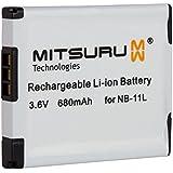 Mitsuru® batterie de remplacement pour Canon Ixus 125 HS / 240 HS compatible avec NB-11L NB11L