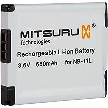 Mitsuru® batería para Canon NB-11L NB11-L NB11L recambio para Canon Ixus A1200 A2200 A2300 A2400 A3200 A3300 A3400 A4000 110 HS 125 HS 240 HS 320 HS