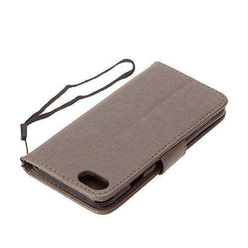 Cover iPhone 5 5s SE, Sportfun Custodia Portafoglio In Pelle Con Wallet Case Cover Per iPhone 5 5s SE con Porta Carte e Funzione Stand (03) 07