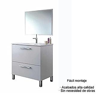 41eCpd%2Bd0CL. SS324  - Hogar Decora Mueble de Baño, Espejo Y CERÁMICA Incluido (Puerta Abatible y Cajón)