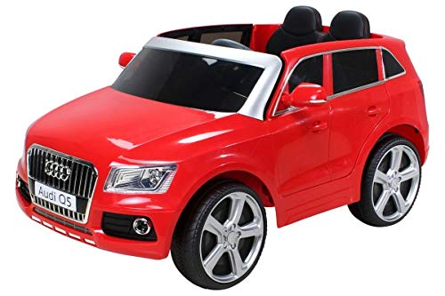 Kinder Elektroauto Audi Q5 Lizenziert - Ledersitz, 2 x 35 Watt Motor (Rot)