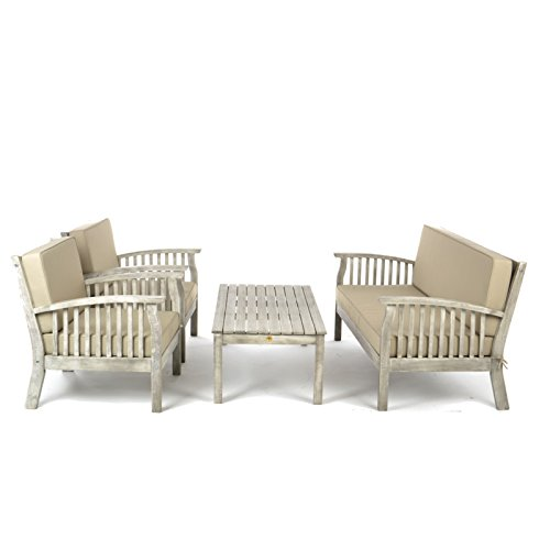 Go Garden Repton Wooden Table & Chairs Furniture Set