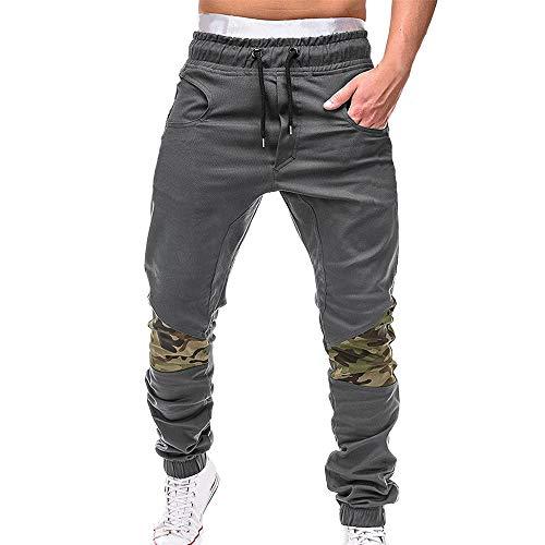 0ef739fde1236 OEAK Homme Pantalon Casual Cargo Chino Jeans Pantalon de Sport Slim Fit  Jogging Running Pantalon Décontracté
