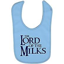 Babero bebé The lord of the milks (The lord of the rings / El señor de los anillos - parodia). Regalo original. Babero bebé divertido.