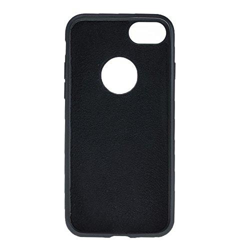 Solo Pelle Iphone 7 / 8 abnehmbare Lederhülle (2in1) inkl. Kartenfächer für das original Iphone 7 / 8 ( Kroko-Rot ohne Öffnung für das Apple Logo ) inkl. Edler Geschenkverpackung Strauss-Schwarz