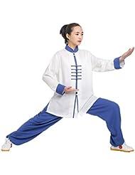 De la Mujer Kung Fu traje de Tai Chi Uniform Wushu, mujer, azul