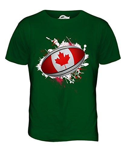CandyMix Kanada Rugby Ball Herren T Shirt Flaschengrün