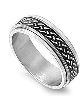 Ring aus rostfreiem Stahl - Drehbar