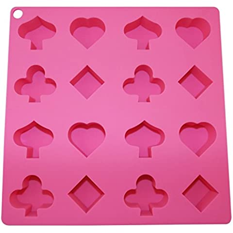 Ice Cube Tray Shapes Silicone Novelty Chocolate Molds Candy Soap Candle Baking Specialty by Poker Party