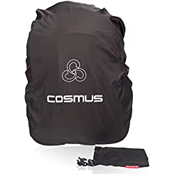Cosmus Black Rain & Dust Cover With Pouch For 50 Ltrs Laptop Bags And Backpacks