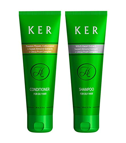 HAIR CAPITAL Premium - Shampoo & Conditioner gegen fettiges Haar, 2er Pack (2 x 240ml) - Premium Shampoo Conditioner