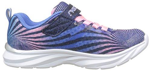 Skechers Pepsters Colorbeam, Baskets Basses Fille Bleu (Nvpk Marine/Rose)