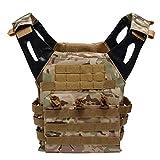 QP Taktische Weste Multi-Funktions-Feld Kampf Survival Training Bergsteigen Schießen Selbstverteidigung Schutzausrüstung Wandern Oxford Weste,Camouflage -