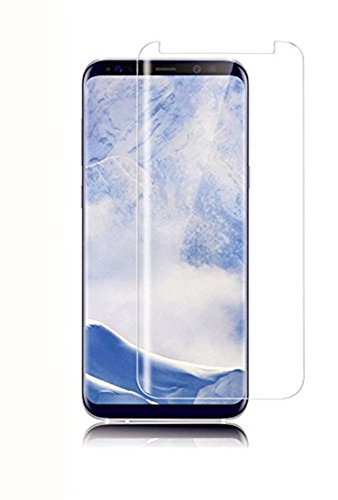 Wunderglass - Galaxy S8 Curved Glas Full Cover Screen Protector Transparent Glasfolie Panzerglas (Transparente Display-projektor)