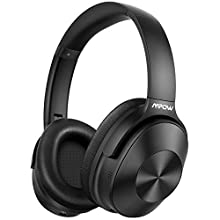 Hybrid Noise Cancelling Headphones, Mpow H12 Bluetooth 5.0 Headphones Over Ear, Hi-Fi Deep Bass Wireless Headphones with Mic, Soft Protein Earpads Headset for Home Office Online Class Cellphone PC TV
