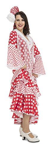 Imagen de my other me  disfraz de flamenca rocío para mujer, s, color rojo viving costumes 203861  alternativa
