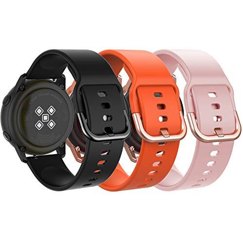 MoKo Cinturino per Samsung Galaxy Watch 42mm/Galaxy Watch Active/Active 2/Gear S2 Classic/Gear Sport/Garmin Vivoactive 3, 3 Pezzi...