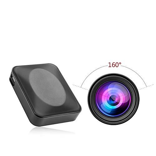 Preisvergleich Produktbild YMXLJJ 160 ° große Wide-Winkel-Kamera 10000mAh Portable Mobile Power Video Recorder Moving Arc Design Infrared Night Vision mit Aufnahme (Schwarz)