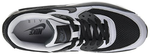 Nike Air Max 90 Essential, Chaussures de running homme Negro / Gris (Black / Black-Wolf Grey-Anthrct)