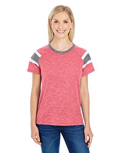 Augusta Sportswear Women'S Fanatic Tee M Red/Slate/White