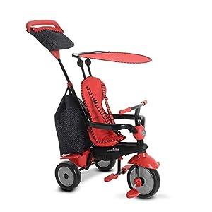 SMARTRIKE 6951500-Glow Touch Steering 4en 1Triciclo, Color Rojo