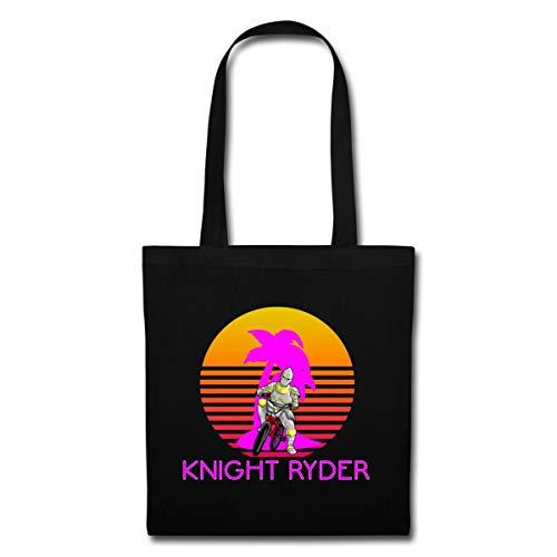 Kostüm Mashup - Spreadshirt Knight Ryder BMX Retro Stoffbeutel, Schwarz