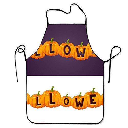 tgyew 2019 Apron Invitation to A Halloween Party Sweetheart Chef Kitchen Apron Stitched Edges