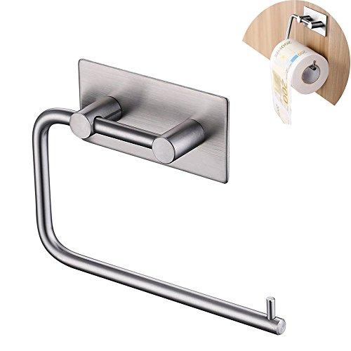 Latex-freie, Nicht-kleber (Selbstklebendes Toilettenpapierhalter, Edelstahl Tissue Papier Rollenlager Badezimmer Küche Handtuchspender, gebürstet Finish Silber (Toilettenpapierhalter))