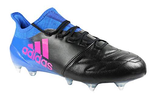 adidas X 16.1 SG Fußballschuhe BB2125 Leder Schwarz Blau Neu & OVP Gr. 41 1/3