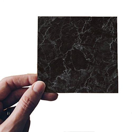 DMMASH Fliesenaufkleber Diagonal Schwarz Marmor Wohnzimmer Diagonal Wandaufkleber (Küche Backsplash Marmor)