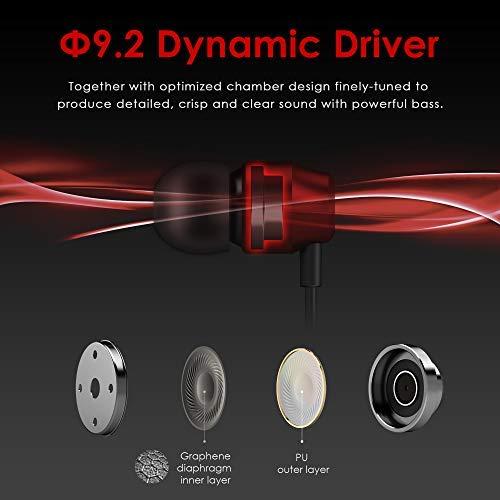 PALOVUE Earflow In-Ear Lightning Kopfhörer Magnetischer MFi-zertifizierter Kopfhörer mit Mikrofon-Controller Kompatibel mit iPhone X / XS / XS iPhone 8/P iPhone 7/P (Metallic Rot) - 3