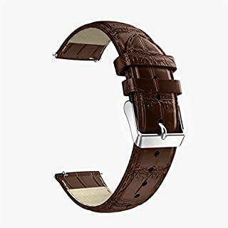 AmazingDays Replacement Leather Watch Bracelet Strap Band For Huawei Watch 2 (Brown)