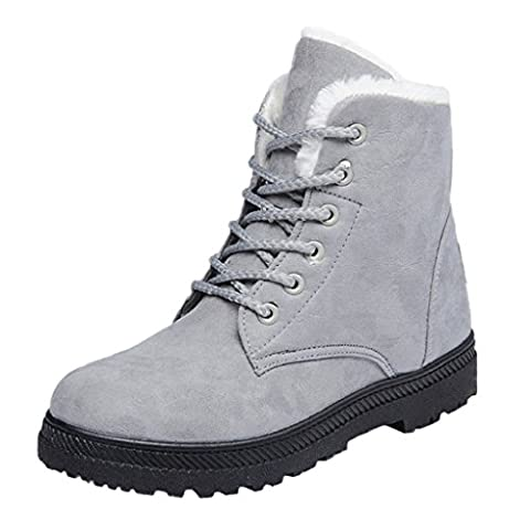 OverDose Women Winter Flat Fur Lined Warm Ankle Boots Snow